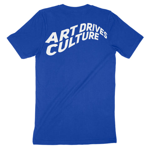 Art Drives Culture Blue Tee
