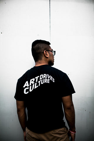 Art Drives Culture Black Tee