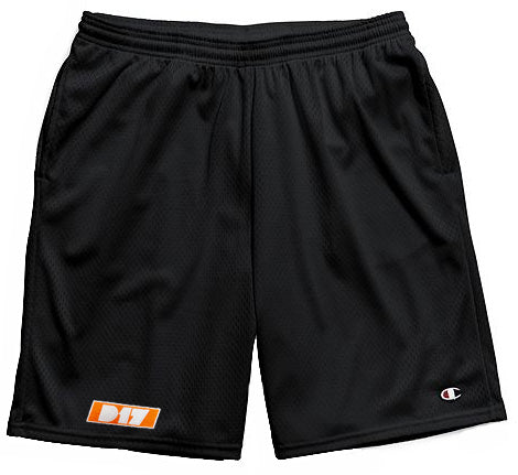 D17 Orange Logo Shorts. Champions Only.