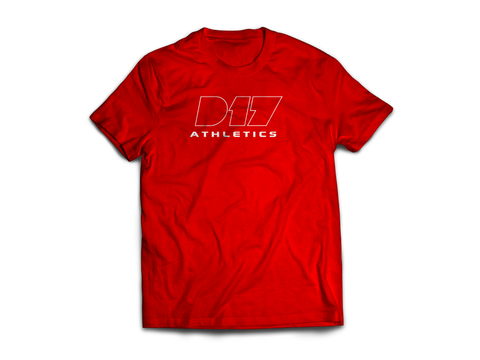 Red Nike D17 Athletics Tee