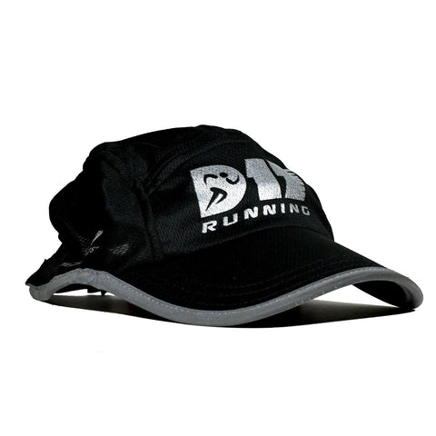 D17 Running Reflective Race Hat - Black
