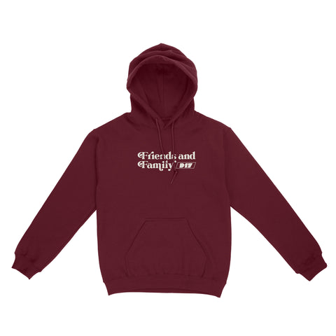 D17 Friends and Family Hoodie - Burgundy