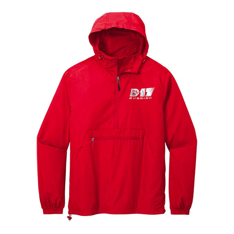D17 Running Packable Windbreaker - Red