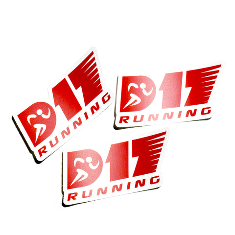 D17 Running Stickers
