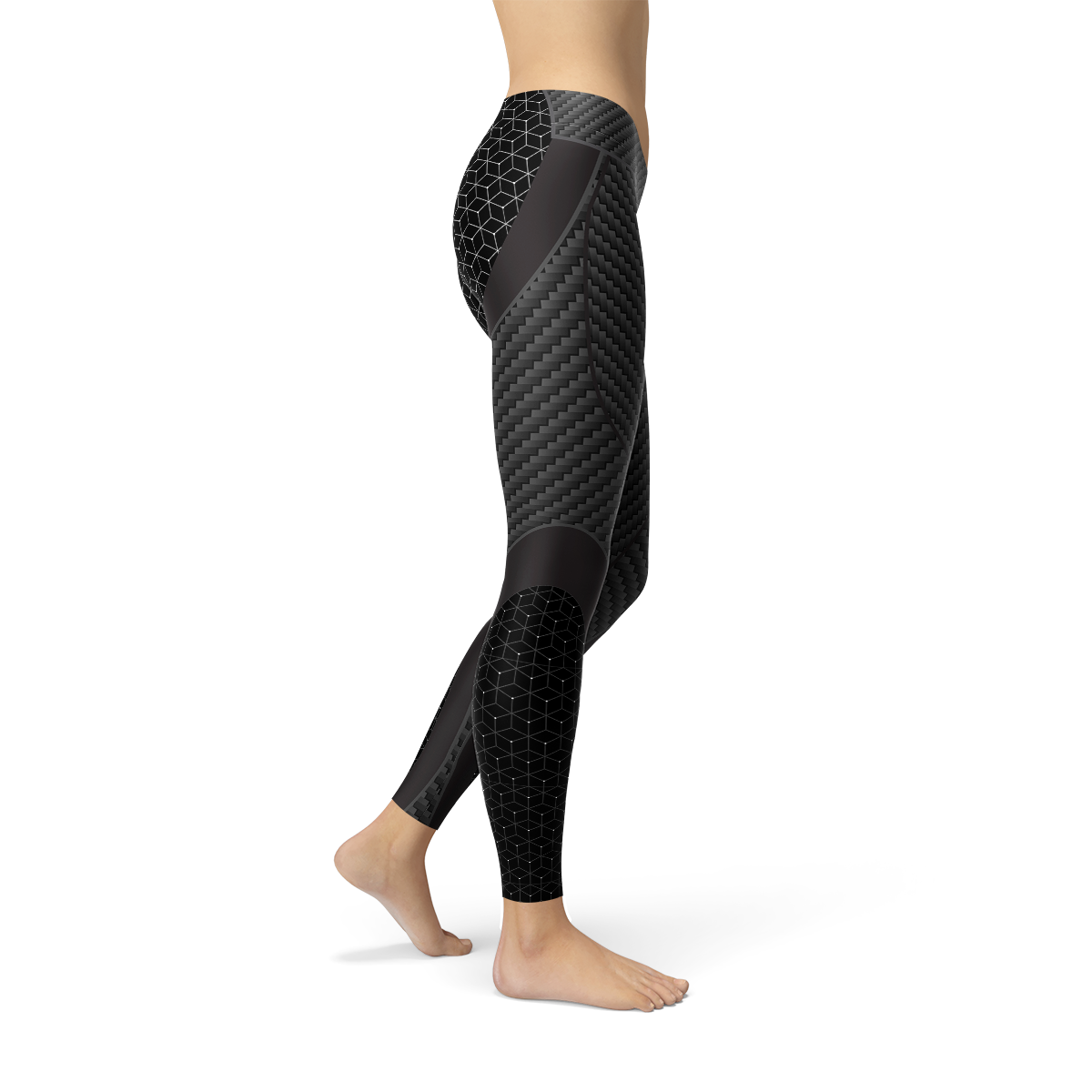 Womens Carbon Fiber Sports Leggings