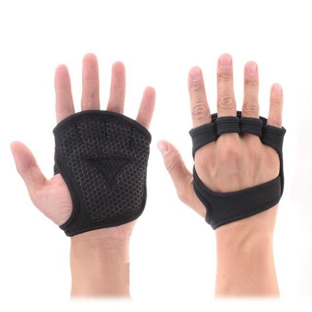 2pcs Weight Training Gloves Fitness Gymnastics Grip Handle Palm Protection Gloves