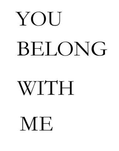 I Belong w/You