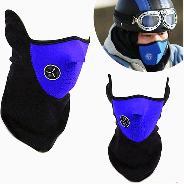 Neck Warming Half Face Mask Windproof for Winter Sports - Coastal Outdoor Gear