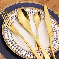 Gold Kaya Silverware - TheBrainyHouse