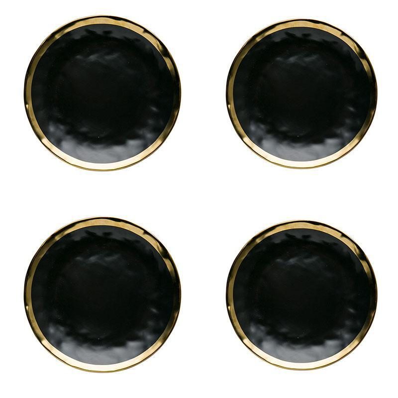Black Coincidence Plate Set (4PCs) - TheBrainyHouse