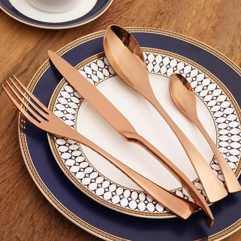 Rose Gold Kaya Silverware - TheBrainyHouse