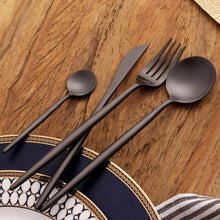 Load image into Gallery viewer, Black Stainless Steel Dinnerware - European style - TheBrainyHouse