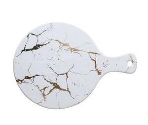 Marble Rectangle And Round Ceramic Plate - TheBrainyHouse