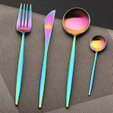 Load image into Gallery viewer, Rainbow Stainless Steel Dinnerware - TheBrainyHouse