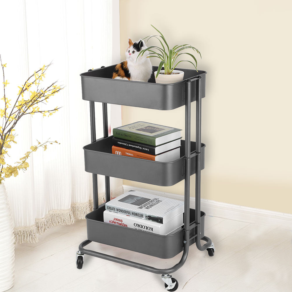 Storage Trolley Cart with Wheels - TheBrainyHouse