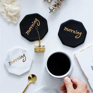 Morning Marble Coaster Cup Mats - TheBrainyHouse