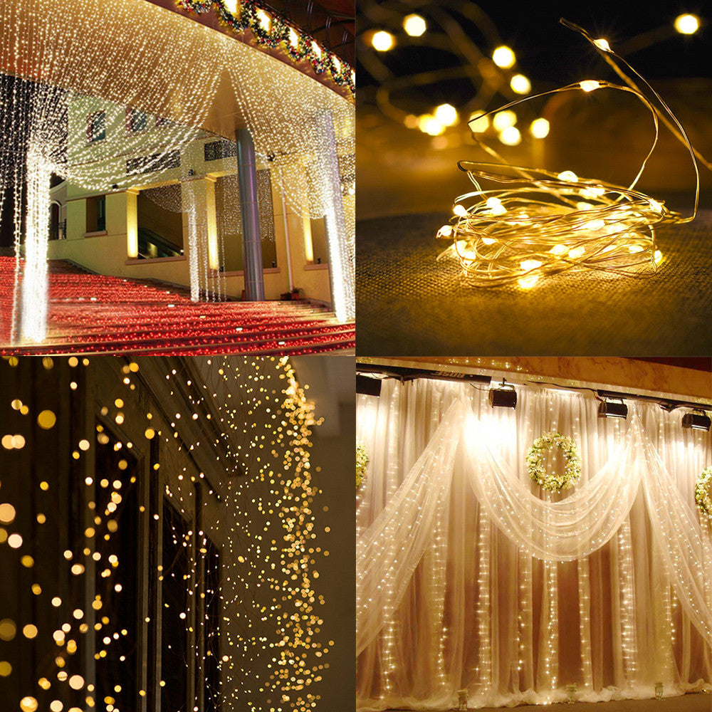 String Lights Curtain LED (300PCs) - TheBrainyHouse