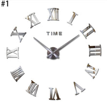 Load image into Gallery viewer, Large Mirrored Wall Clock - TheBrainyHouse