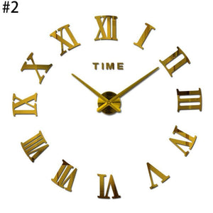 Large Mirrored Wall Clock - TheBrainyHouse