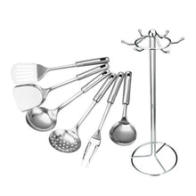 Load image into Gallery viewer, Stainless Steel Cooking Tools (7PCs) - TheBrainyHouse