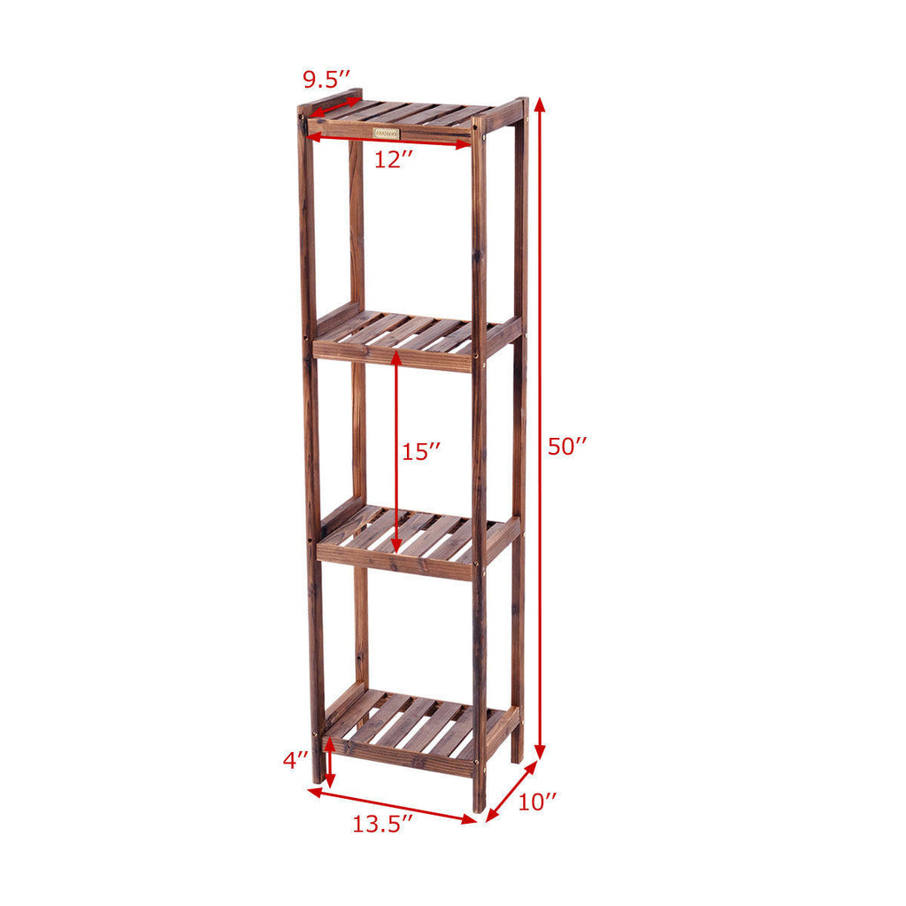 Flower Rack Plant Stand Wood Shelf - TheBrainyHouse