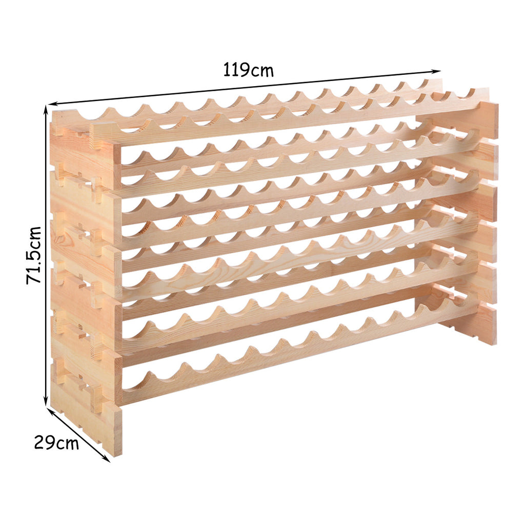 72 Bottle Wood Wine Rack - TheBrainyHouse