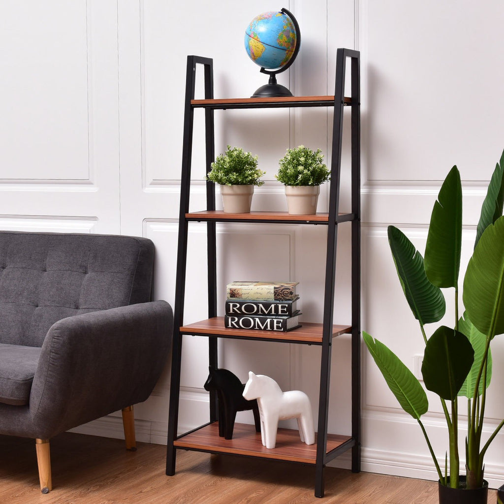 4-Tier Ladder Book Organizer Bookcase - TheBrainyHouse
