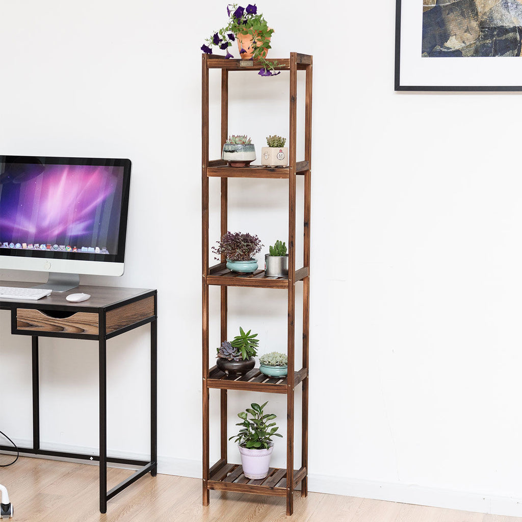 Flower Rack Plant Stand Wood Display Shelf - TheBrainyHouse