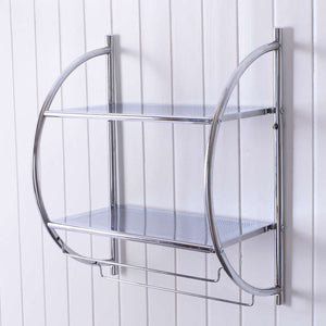 2 Tier Wall Mount Shower Organizer - TheBrainyHouse