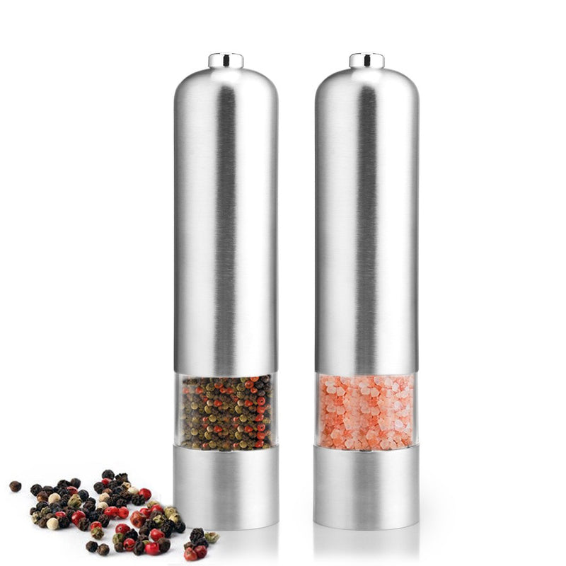 Automatic Electric Pepper Grinder Stainless Steel - TheBrainyHouse