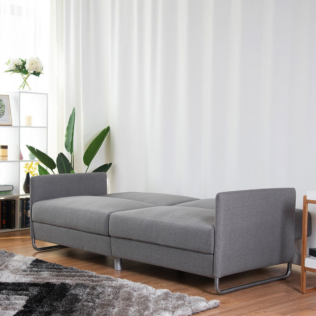 Modern Futon Convertible Recliner Couch Splitback Sofa Bed - TheBrainyHouse