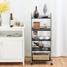 Load image into Gallery viewer, 5 Tiers Storage Cart Rack Utility Shelf - TheBrainyHouse