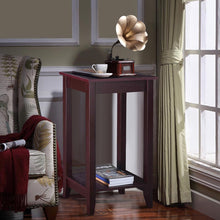 Load image into Gallery viewer, Tall Wooden Sofa End Table Side Table - TheBrainyHouse