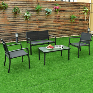 Patio Steel Frame Furniture Set (4PCs) - TheBrainyHouse