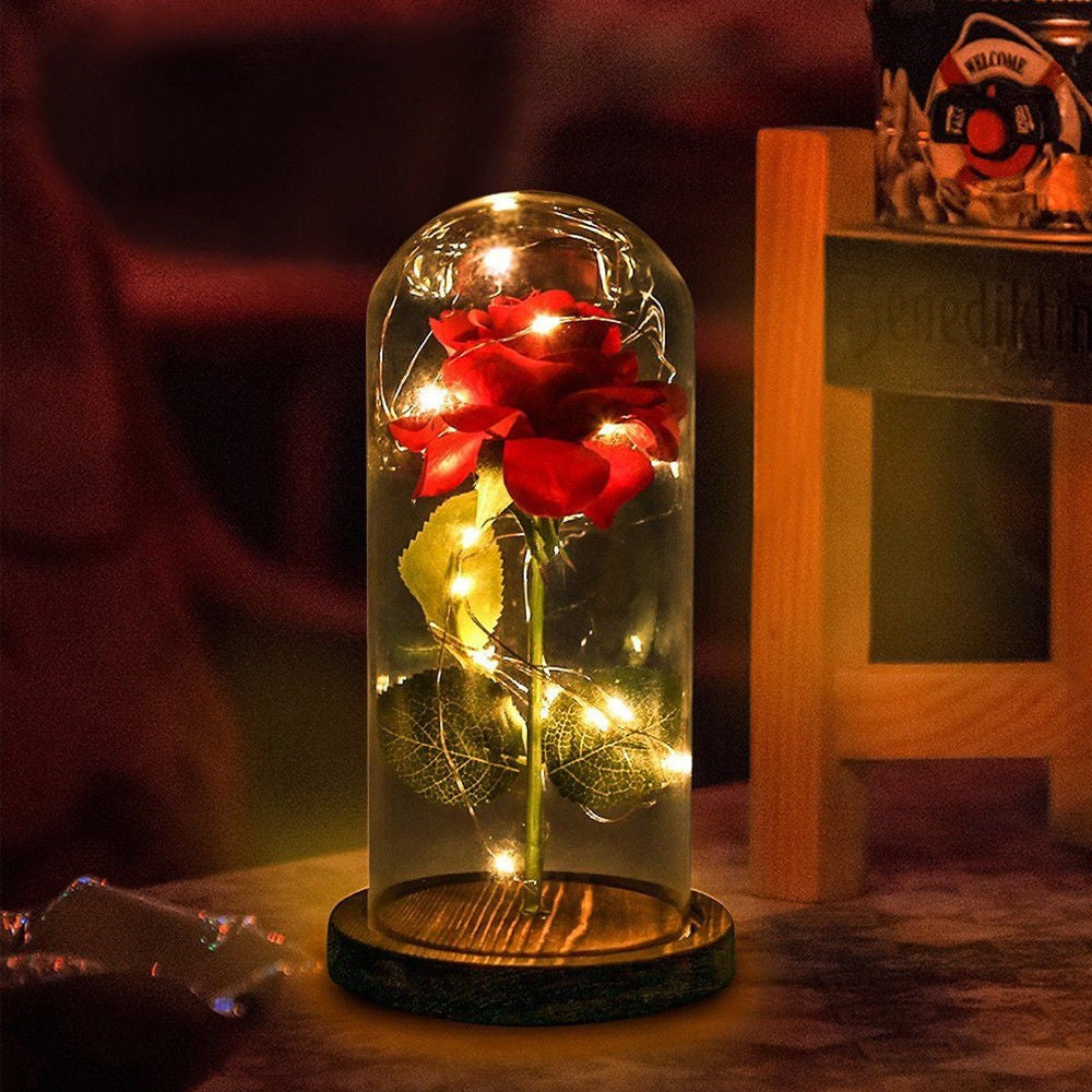 Beauty And The Beast Enchanted Rose Glass - TheBrainyHouse
