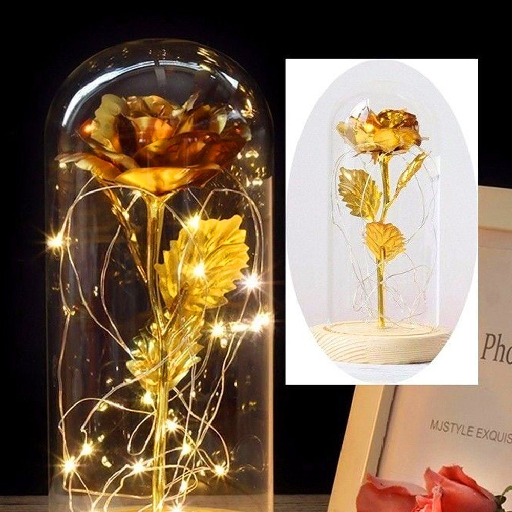 Enchanted Forever Rose Flower In Glass - TheBrainyHouse