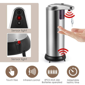 Automatic Soap Dispenser, Stainless Steel Sensor - TheBrainyHouse