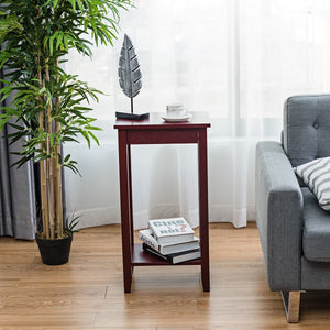 Tall Wooden Sofa End Table Side Table - TheBrainyHouse