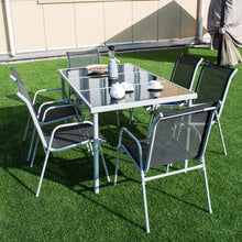Load image into Gallery viewer, Patio Furniture Steel Table Chairs Dining Set (7PCs) - TheBrainyHouse