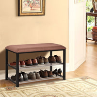 2 Tier Shoe Storage Rack Bench - TheBrainyHouse