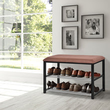 Load image into Gallery viewer, 2 Tier Shoe Storage Rack Bench - TheBrainyHouse