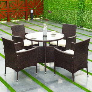 Ratten Outdoor Furniture Set (5PCs) - TheBrainyHouse