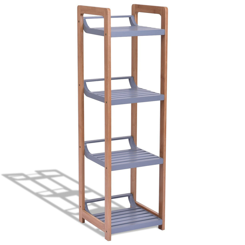 4-Tier Bamboo Multifunctional Storage Tower Stand Rack - TheBrainyHouse