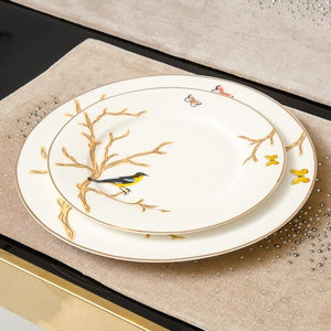Gold and White Branch China - TheBrainyHouse