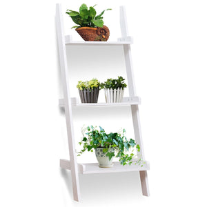 3 Tier Leaning Wall Ladder Display Planting Storage Rack - TheBrainyHouse