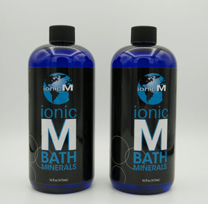 Ionic M Bath Minerals | 2 Pack | 16 oz Bottles