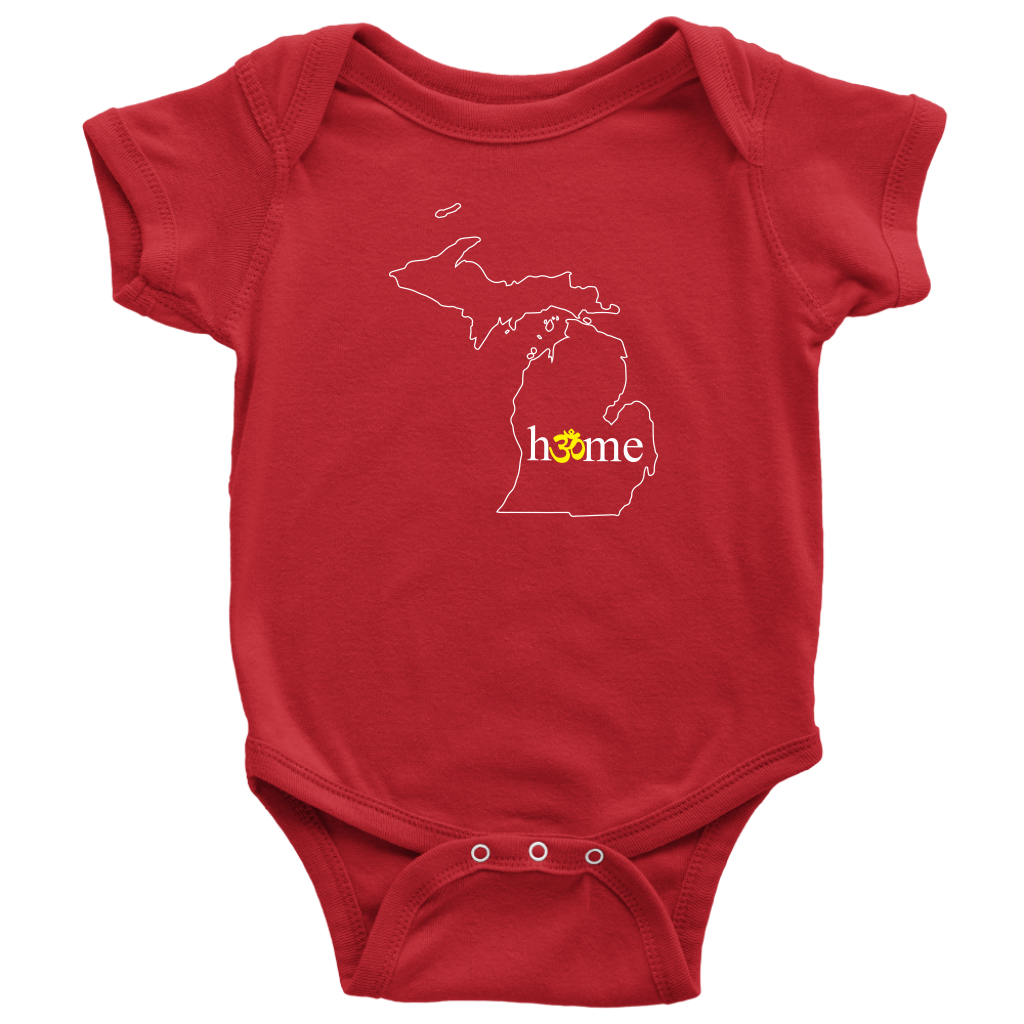 Michigan Om Baby Onesie