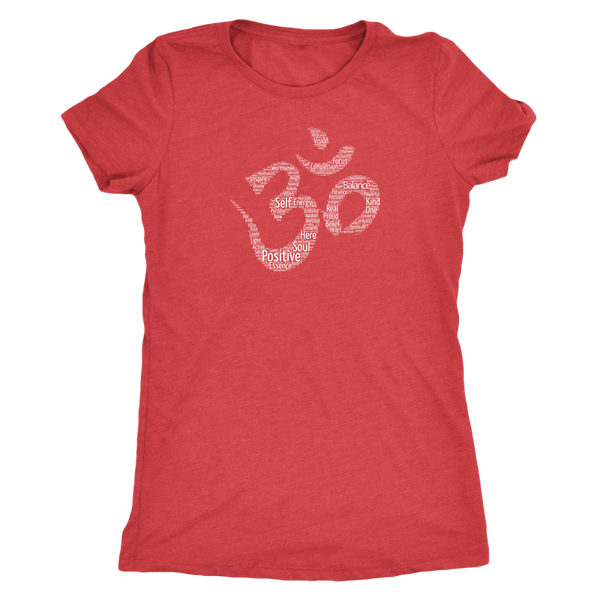 Positive Words Om Women's Fitted T-Shirt