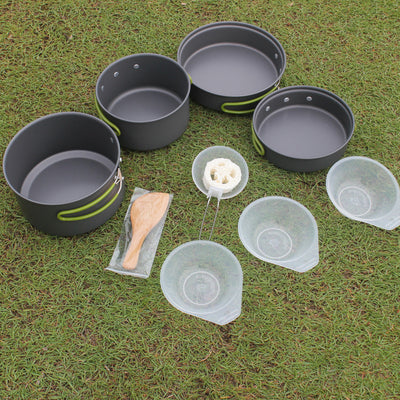 ULTRALIGHT PORTABLE OUTDOOR POT PAN & BOWL COOKING SET