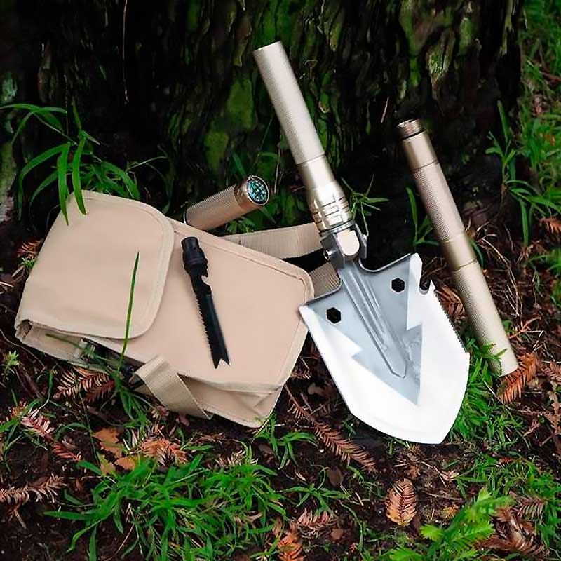 PREPPER UNION MULTI-FUNCTION FOLDING SHOVEL